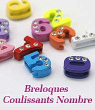 Breloques Coulissants Nombre