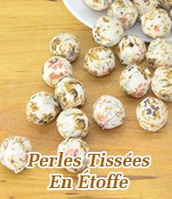 Perles Tissées En Étoffe