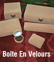 Boîte En Velours