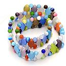 Perles rondes et losange