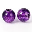Glitter perles rondes acryliques coloré
