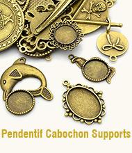 Pendentif Cabochon Supports