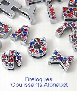 Breloques Coulissants Alphabet