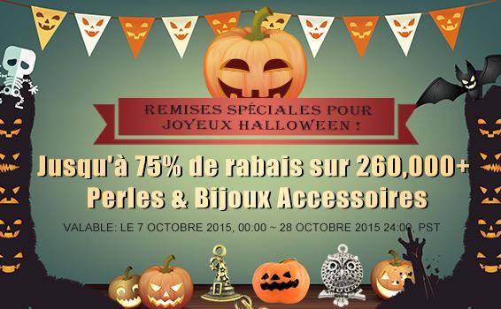 Remises Spéciales pour Joyeux Halloween !  Jusqu'à 75% de rabais sur 260,000+ Perles & Bijoux Accessoires