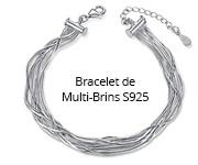 Bracelet de Multi-Brins S925