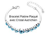 Bracelet Platine Plaqué avec Cristal Autrichien