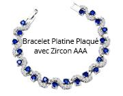 Bracelet Platine Plaqué avec Zircon AAA