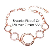 Bracelet Plaqué Or 18k avec Zircon AAA
